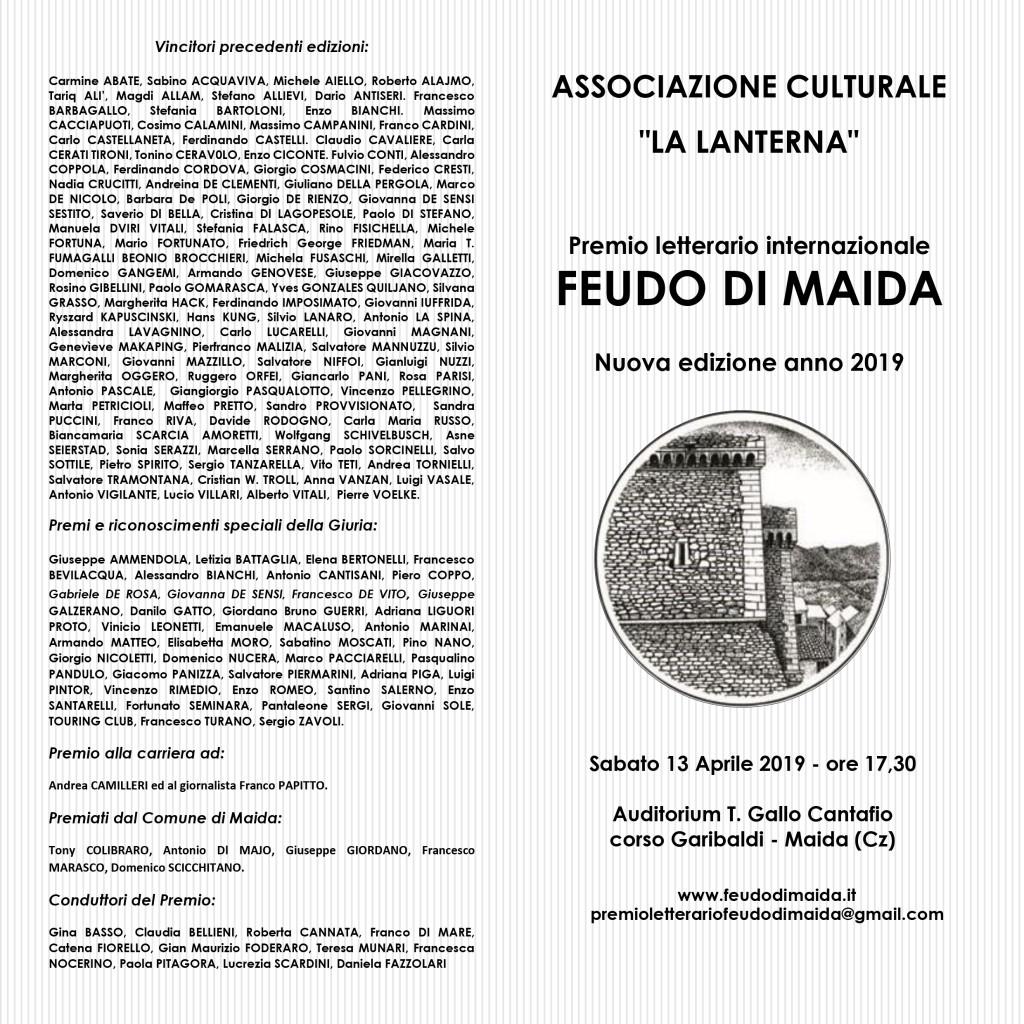 Bando premio feudo di Maida 2019-1